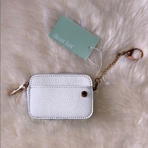 NWT / Deux Lux Elle Coin Pouch in White